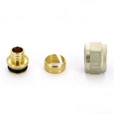 VT.4410 Евроконус3/4 для пластик. РЕХ трубы 16х2.0 Valtec (Италия)