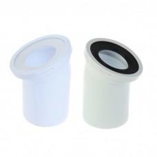 Колено для унитаза белое 110*22(с уплот)  W2220