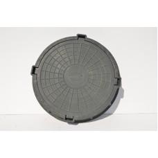 Люк полимерный смотровой для колодцев 3 тн черный