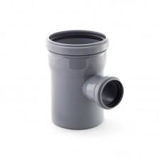 Тройник  ПВХ 110х50х90 с кольцом (Для подземной канализации ) (РОССИЯ)