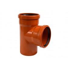 Тройник ПВХ 110*110*90 К (RAL 8023  (РОССИЯ)) Для подземной канализации