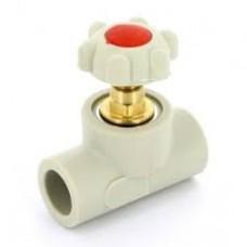 Вентиль прямоточный пласт.20 мм FV-Plast  (Чехия)
